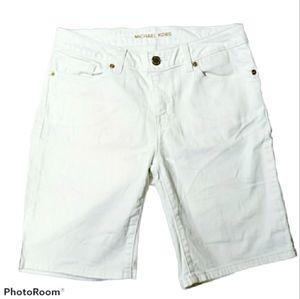 Michael Kors White Denim Shorts Ladies size 2